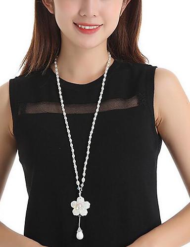 رخيصةأون مجوهرات الموضة-فضي لؤلؤ لون سادة نسائي