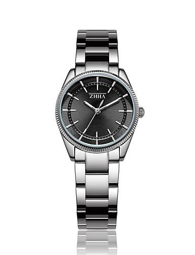 cb9d47a522d ZHHA Mulheres Relógio Elegante Relógio de Pulso Quartzo Japonês Prata 30 m  Impermeável Relógio Casual Mostrador
