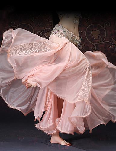 halpa Etniset & Cultural Puvut-Espanjan nainen Hameet Aikuisten Naisten Flamenco Halloween Karnevaali Masquerade Festivaali / loma Pitsi Polyesteria Valkoinen / Rubiini / Pinkki Nainen Karnevaalipuvut Ontto