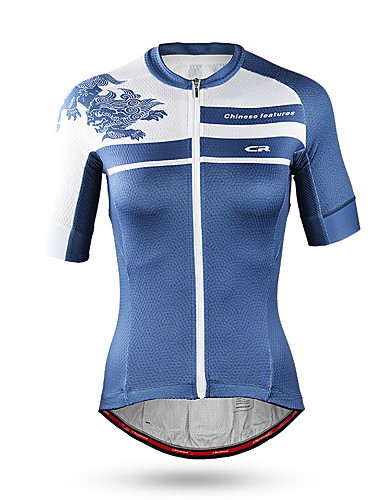 cheap Cycling Clothing-Mountainpeak Women's Short Sleeve Cycling Jersey - Blue Bike Jersey Quick Dry Anatomic Design Sports Coolmax® Terylene Mountain Bike MTB Road Bike Cycling Clothing Apparel / Stretchy / Italian Fabric