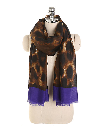 billige Brudesjaler-Ermeløs Polyester / Polyester / Bomull Bryllup / Fest / aften Sjal til kvinner / Skjerf til damer Med Leopard Trykk / Printer Sjale / Halstørklær