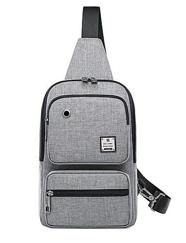 3384aeaca1 Pánské Tašky Tkanina Oxford Sling tašky přes rameno Zip Pevná barva Vodní  modrá / Černá / Šedá