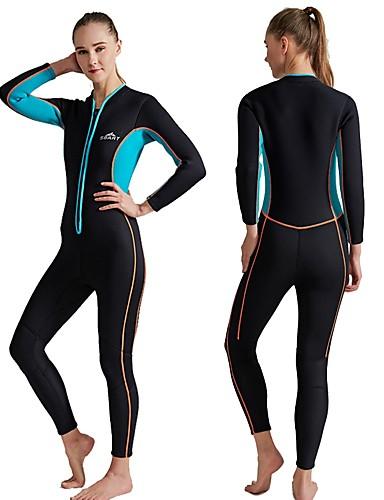 8e58600e3b SBART Women s Full Wetsuit 3mm SCR Neoprene Diving Suit Long Sleeve Front  Zip Autumn   Fall Spring Summer   Winter   Micro-elastic