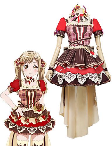 povoljno Anime kostimi-Inspirirana BanG Dream Cosplay Anime Cosplay nošnje Japanski Cosplay Suits Other Bez rukávů Other / Suknja / Struk Pribor Za Uniseks