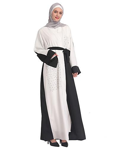 afbe9a419a3c Γυναικεία Κομψό στυλ street   Κομψό Flare μανίκι Καφτάνι Φόρεμα -  Συνδυασμός Χρωμάτων