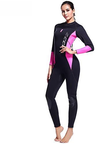 fec021103d ZCCO Women s Full Wetsuit 3mm SCR Neoprene Diving Suit High Elasticity Long  Sleeve Back Zip Patchwork Fashion Autumn   Fall Spring Summer   Winter