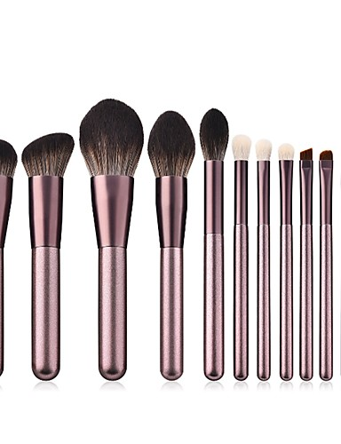 d5baa6f0297 Professional Makeup Brushes 12pcs Professional New Design Full Coverage  Synthetic Color Gradient Wooden / Bamboo for Eyeshadow Eyeliner Concealer &  Base ...