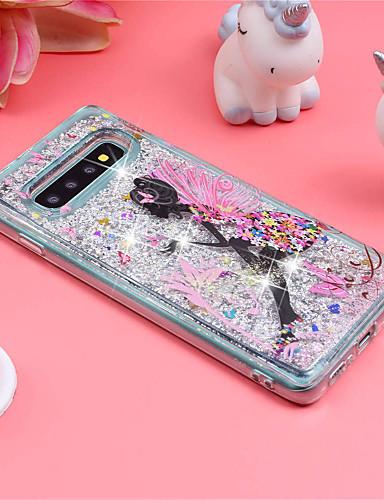 Pouzdro Uyumluluk Samsung Galaxy S9 / S9 Plus / S8 Plus Şoka Dayanıklı / Akan Sıvı / Temalı Arka Kapak Seksi Kadın / Işıltılı Parlak Yumuşak TPU