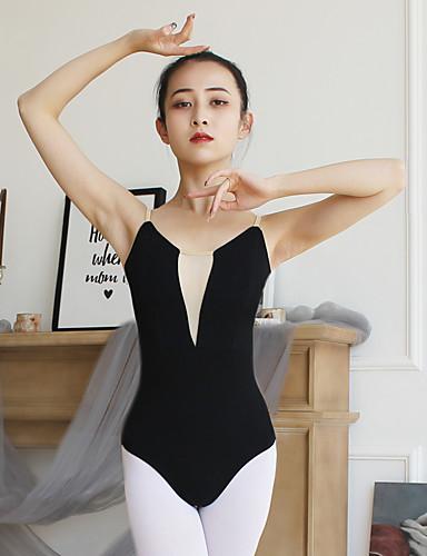 preiswerte Ballettbekleidung-Ballett Turnanzug Damen Training / Leistung Baumwolle / Elastan Kombination Ärmellos Gymnastikanzug / Einteiler