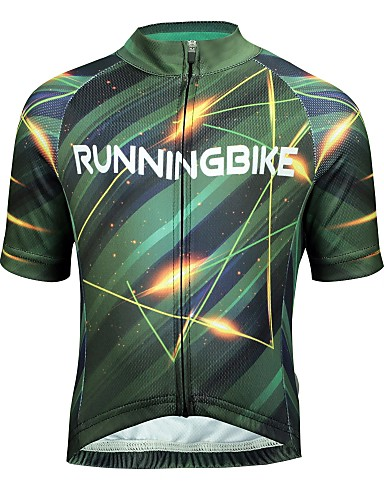 cheap Cycling Clothing-ILPALADINO Boys' Girls' Short Sleeve Cycling Jersey - Forest Green Bike Jersey Top Breathable Quick Dry Sports Polyster Lycra Mountain Bike MTB Road Bike Cycling Clothing Apparel / Kid's