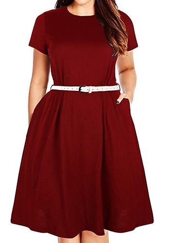 voordelige Grote maten jurken-damesschommelkraag, dameswijn zwart blauw xxxl xxxxl xxxxxl xxxxxxl