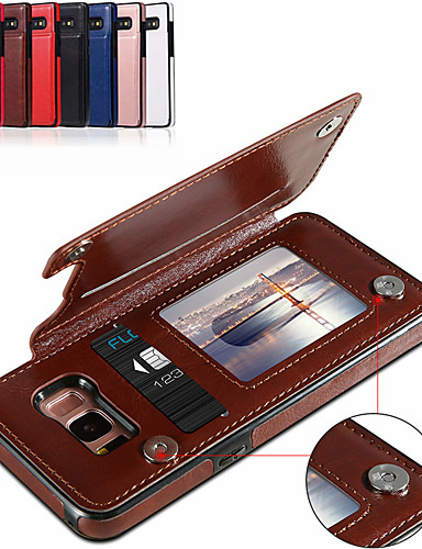 Etui Käyttötarkoitus Samsung Galaxy S9 / S9 Plus / S8 Plus Korttikotelo / Tuella Suojakuori Yhtenäinen Pehmeä PU-nahka