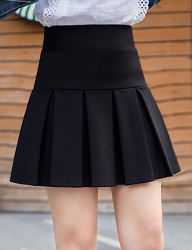 8dd7926a7c54 Falda de mujer por encima de la rodilla una línea - color sólido ...