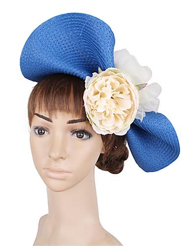 billige Hatte & Imponeringer-polyester / PP+ABS fascinators / blomster / Hodepryd med Blomst 1 Deler Bryllup / Fest / aften Hodeplagg