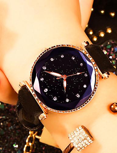 33964a19 Жен. Наручные часы Кварцевый Кожа Черный / Красный / Коричневый Защита от  влаги Творчество Аналоговый