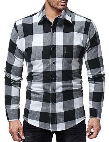 Hombre Camisa Gráfico Negro XL