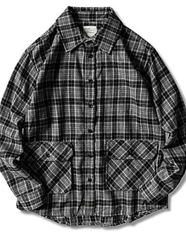 男性用 EU / USサイズ シャツ ストライプ ダックグレー L