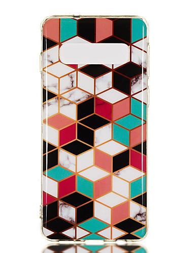Etui Käyttötarkoitus Samsung Galaxy S9 / S9 Plus / S8 Plus IMD / Kuvio Takakuori Geometrinen printti / Marble Pehmeä TPU