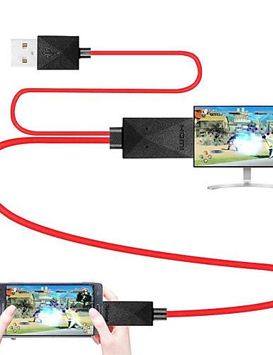 billige Periferiutstyr til datamaskiner-mhl kabel micro usb 2.0 til hdmi 1.4 adapterkabel mannlig - mann 1,8m (6ft)