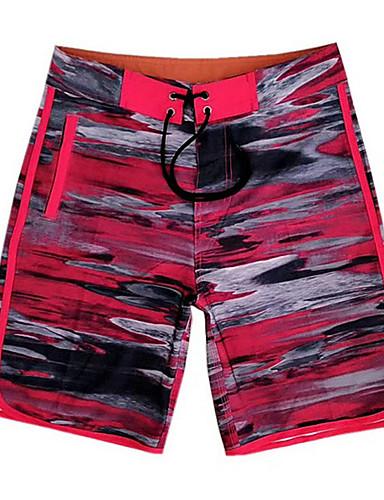 voordelige Herenondergoed & Zwemkleding-Heren Wit Rood Paars Zwembroek Eendelig Zwemkleding - camouflage M L XL Wit
