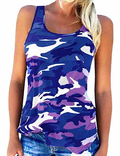 abordables Hauts pour Femmes-Tee-shirt Femme, camouflage - Coton A Bretelles Gris
