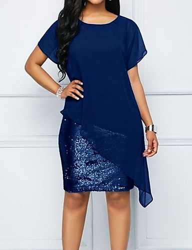 cheap Women  039 s Dresses-Women  039 s Shift Dress Sequins 805e1ccfd5cc