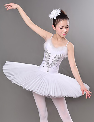 voordelige Shall We®-Ballet Jurken / Tutus&Rokken Dames Opleiding / Prestatie Polyester / Netstof Borduurwerk / Kristallen / Bergkristallen / Pailletten Mouwloos Kleding