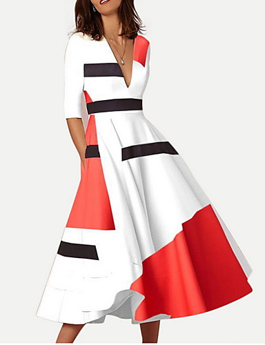 cheap Women  039 s Dresses-Women  039 s Swing Dress - 258086faa139