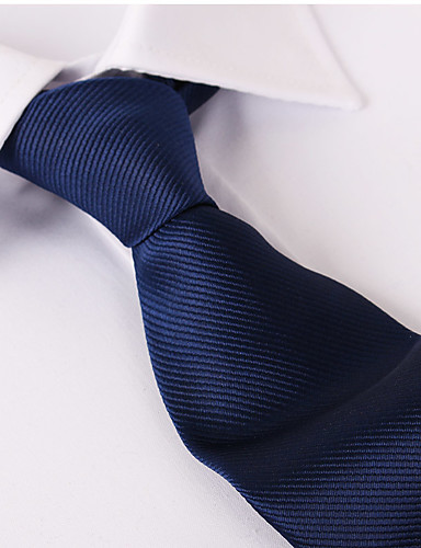 cheap Men's Ties & Bow Ties-Men's Party / Work / Basic Necktie - Solid Colored