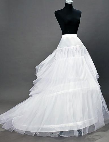 cheap Historical & Vintage Costumes-Petticoat Hoop Skirt Tutu Under Skirt 1950s White Petticoat / Crinoline