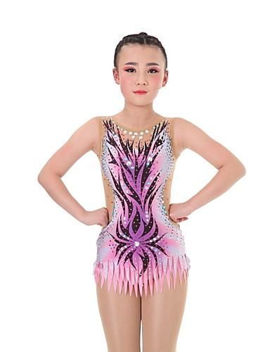 ded645e1542b Rhythmic Gymnastics Leotards Artistic Gymnastics Leotards Women's Girls'  Leotard Blushing Pink High Elasticity Handmade Diamond Look Shading  Sleeveless ...