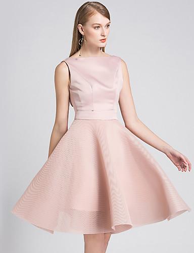 bda048dc0d A-Line Halter Neck Short Length Chiffon   Satin Bridesmaid Dress with  Bow(s) by LAN TING Express