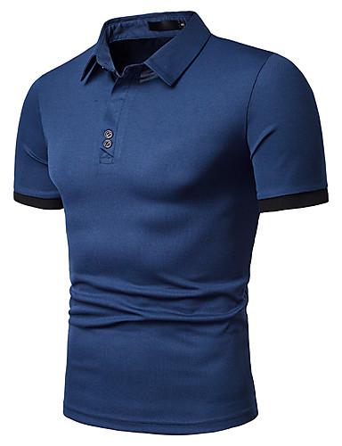 2019 Moda Polo Per Uomo Tinta Unita Colletto Bianco L #07198196