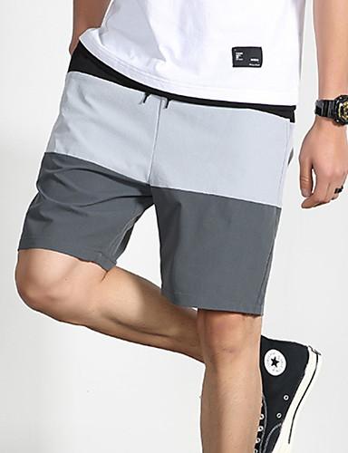 Недорогие Мужские брюки, шорты и т.д.-Муж. Уличный стиль Чино Брюки - Разные цвета Винный