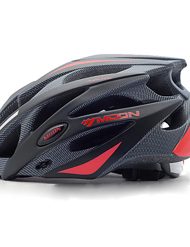 cheap Cycling-MOON Adults Bike Helmet 21 Vents Impact Resistant Lightweight Adjustable Fit EPS PC Sports Mountain Bike / MTB Road Cycling Cycling / Bike - Black Black / Red / Integrally-molded / Removable Visor