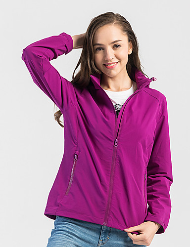 cheap Outdoor Clothing-DZRZVD® Women's Hiking Jacket Outdoor Spring, Fall, Winter, Summer Fast Dry Wearable Top Single Slider Outdoor Exercise Winter Sports Black / Red / Violet