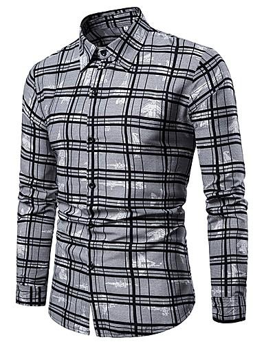 男性用 シャツ チェック グレー XXL