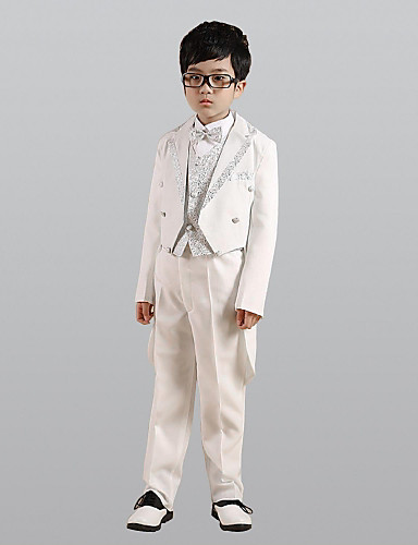 povoljno Odijela za malog djevera-Zlato / Pink Polester / Cotton Blend Odijelo za malog djevera - 1set Uključuje Kaput / Mellény / Shirt