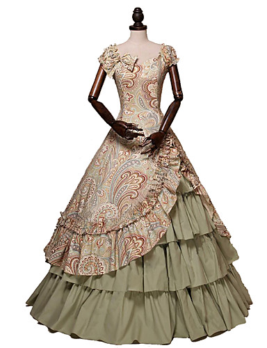 1269e4828a5 Χαμηλού Κόστους Στολές της παλιάς εποχής-Πριγκίπισσα Rococo Victorian 18ος  αιώνας Στολές Γυναικεία Φορέματα Κοστούμι