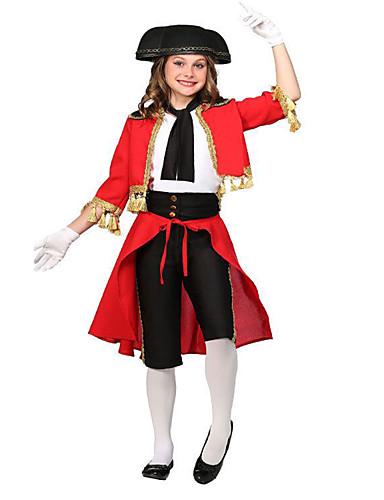 e5837b5bc Uniformes Toureiro Crianças Para Meninas Fantasias de Cosplay Roupa Para  Poliéster Casaco Colete Calças Baile de Máscaras   Chapéu
