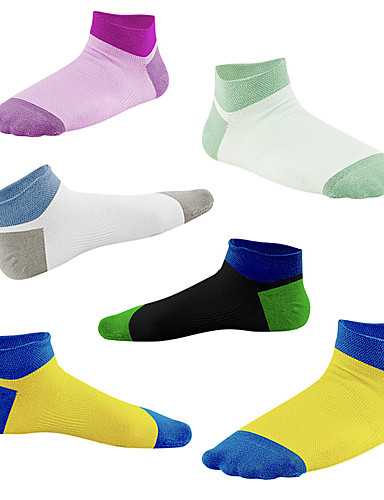 cheap Cycling Clothing-Men's Women's Cycling Socks Compression Socks Breathable Anti-Slip Soft Sweat-wicking Support Violet Gray+White Blue+Yellow Road Bike Mountain Bike MTB Basketball Stretchy