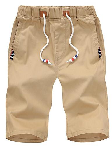 cheap Men's Pants & Shorts-Men's Basic Shorts Pants - Solid Colored Red
