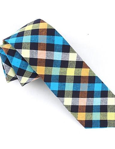 Ambizioso Per Uomo Da Serata - Da Ufficio - Attivo Cravatta Con Stampe - A Quadri #07278584 Sconto Online