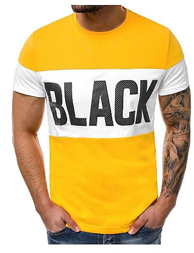 abordables Camisetas y Tops de Hombre-Hombre Camiseta Letra Blanco L