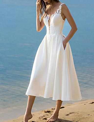 abordables Robes Femme-Femme Sophistiqué Elégant Midi Gaine Robe Bloc de Couleur Blanc M L XL Sans Manches