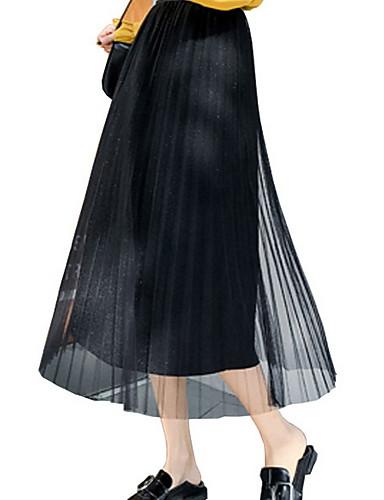 d9124e08dff Χαμηλού Κόστους Γυναικείες Φούστες-γυναικεία midi μια φούστα γραμμή -  συμπαγές χρώμα · γυναικεία midi μια φούστα γραμμή - συμπαγές χρώμα