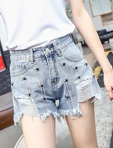 Per Donna Attivo - Moda Città A Zampa - Pantaloncini Pantaloni - Modello Azzurro #07249564