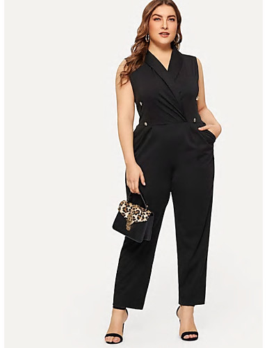 42be7d5fb4 Women s Street chic Black Jumpsuit