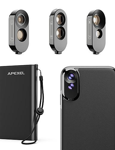 Matkapuhelin Lens Kalansilmäobjektiivi / Pitkäpolttovälinen objektiivi / Laajakulmaobjektiivi lasi / ABS + PC 2X 10 mm 0.01 m 180 ° Kotelolla