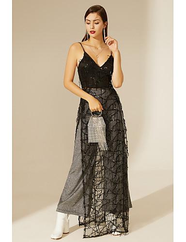 cheap TS@ Clothing-TS@ Women's Swing Dress - Solid Colored Black
